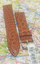 Morellato Tan Crocodile Grain Leather Watch Strap Silver Tone Buckle-19mm