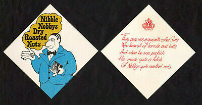 12  NOBBYS  POTATO CHIPS NUTS COMPETITION advertising COASTERS collectable