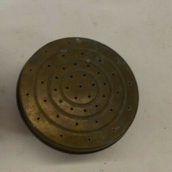 Vintage Old Metal Watering Can Sprinkler Head Nozzle Spout Unscrews For Clean
