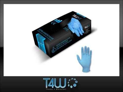 T4W Disposable nitrile gloves powder silicone free CE blue size L 500 pcs.
