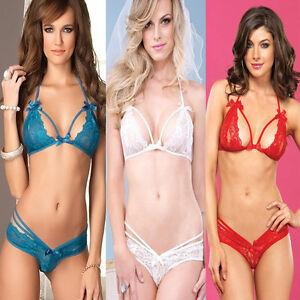 5cf0b79a3d Women s Sexy Lingerie Underwear Hot Lace Suit Bra + G-string Bra ...