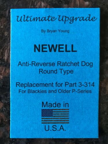 Early P 322 338 /& 344 Stainless Steel Dog NEWELL Blackie 332