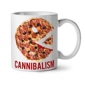 Cannibal Pizza Food NEW White Tea Coffee Mug 11 oz   Wellcoda