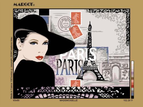 Mademoiselle Margot de Paris Tapestry//Needlepoint Canvas Mademoiselle in paris