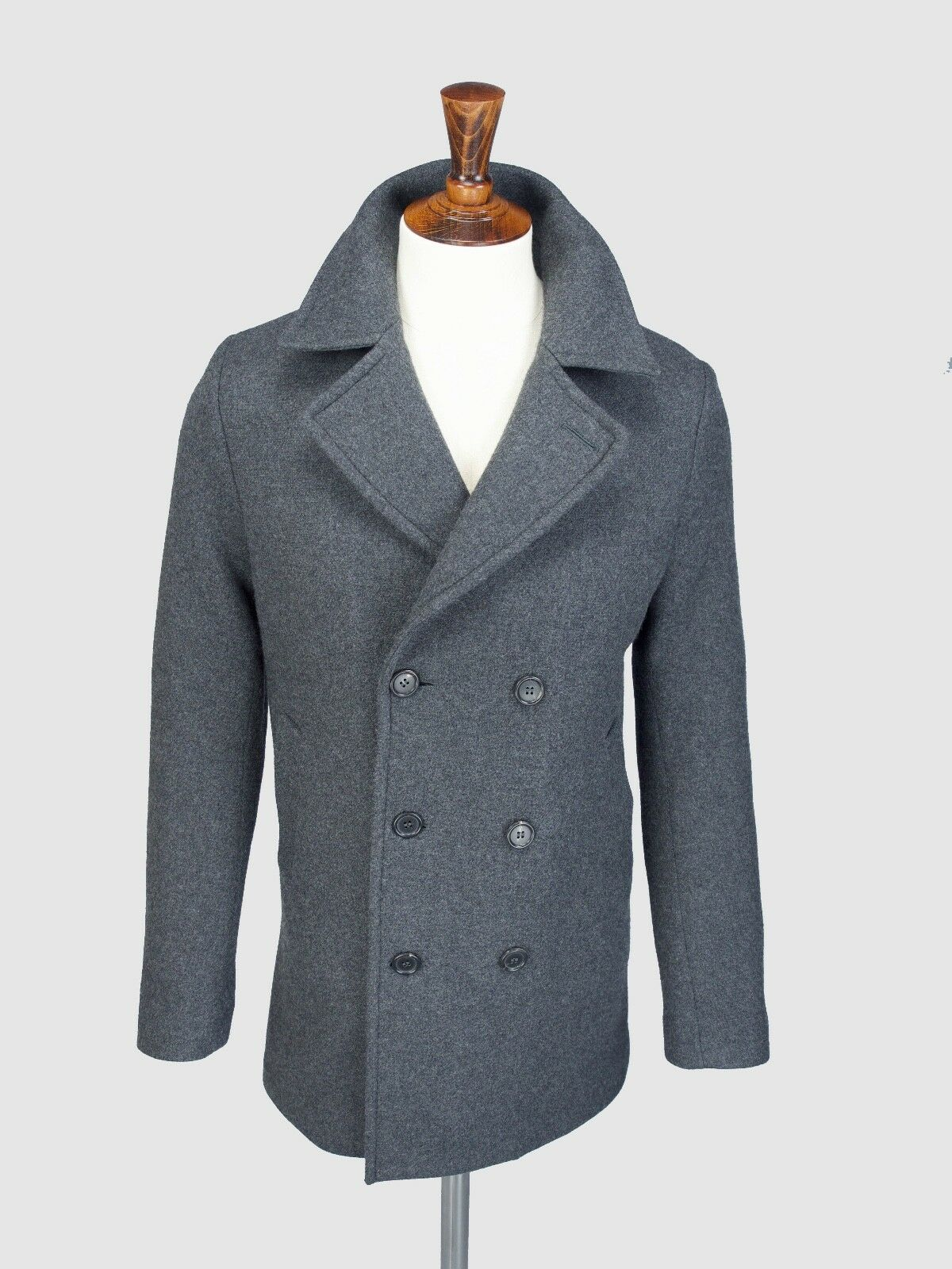 Private Weiß VC V.C Wool Cashmere Pea Coat, Größe 5 (L), New With Tags