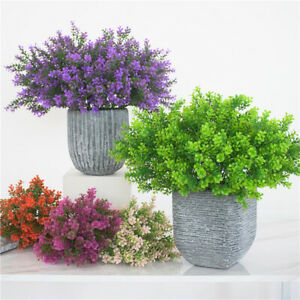 Am-FP-1Pc-Artificial-Flower-Fake-Plant-Glass-Wedding-Party-Home-Floral-Decor-S