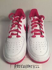 Nike Air Force 1 Low White Hot Pink GS Youth Kids Shoes 14219-124 Size 7Y