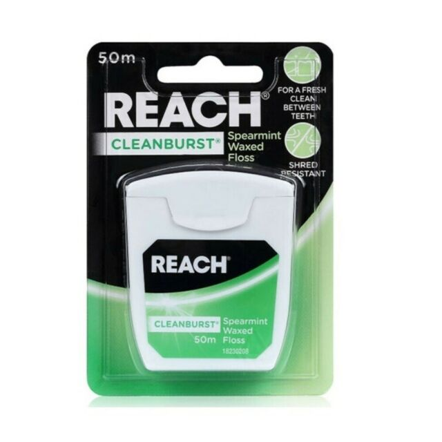 Reach Cleanburst Spearmint Waxed Dental Floss 50m