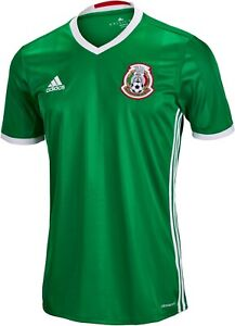 5174d7dbd90 Adidas Men s MEXICO Home 2016 17 Soccer Jersey Green Red White ...