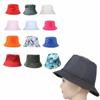 Shimianti Adult//Children Cotton Adults Bucket Hat Sommer Fisher Beach Sun Cap UK