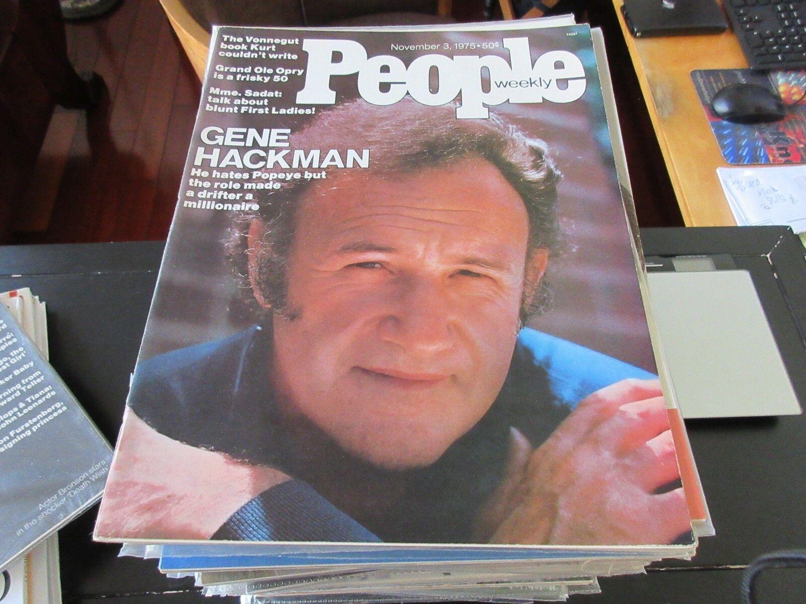 People Magazine , Gene Hackman , 11/3/75 , Popeye ,Gran