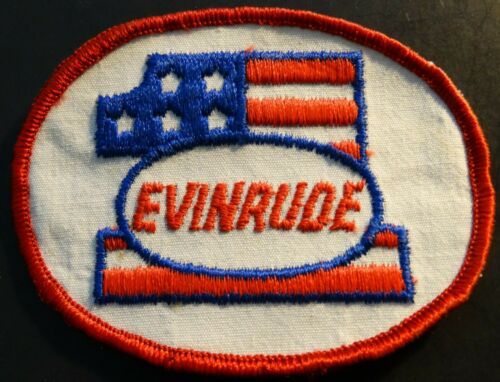 RARE VINTAGE EVINRUDE SNOWMOBILE PATCH NEW ABOUT 3 X 4 (306)