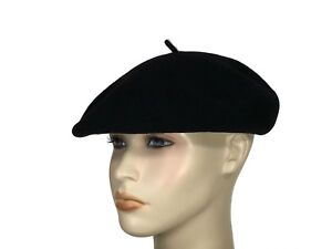 6704374e5990f Laulhere Authentic French 100% Wool Beret Cap Hat Eva Black 7- 7 1 8 ...