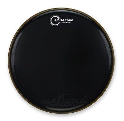 Aquarian CC8BK Drumheads Classic Clear 8-Inch Tom Tom Drum Head Gloss Black