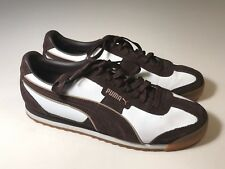 PUMA Clyde Brown Leather White Casual Athletic Shoes Men Size 10.5 EUC 7b61e01dc