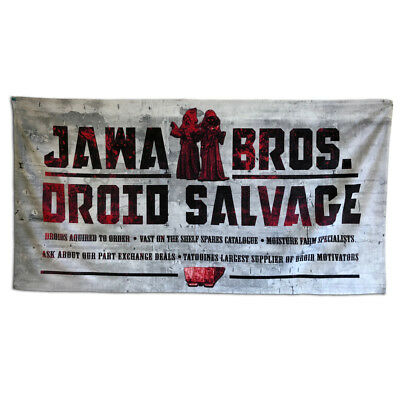 Jawa Brothers Distressed Metal Sign Star Wars Movie Jedi Sith Vader Episode 9