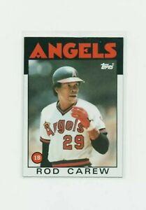 1986 Topps Rod Carew #400 Baseball Card - California Angels HOF