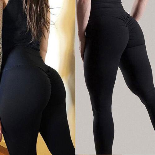 High Waist Women Yoga Pants Anti-Cellulite Leggings Ruched Sports Gym Running