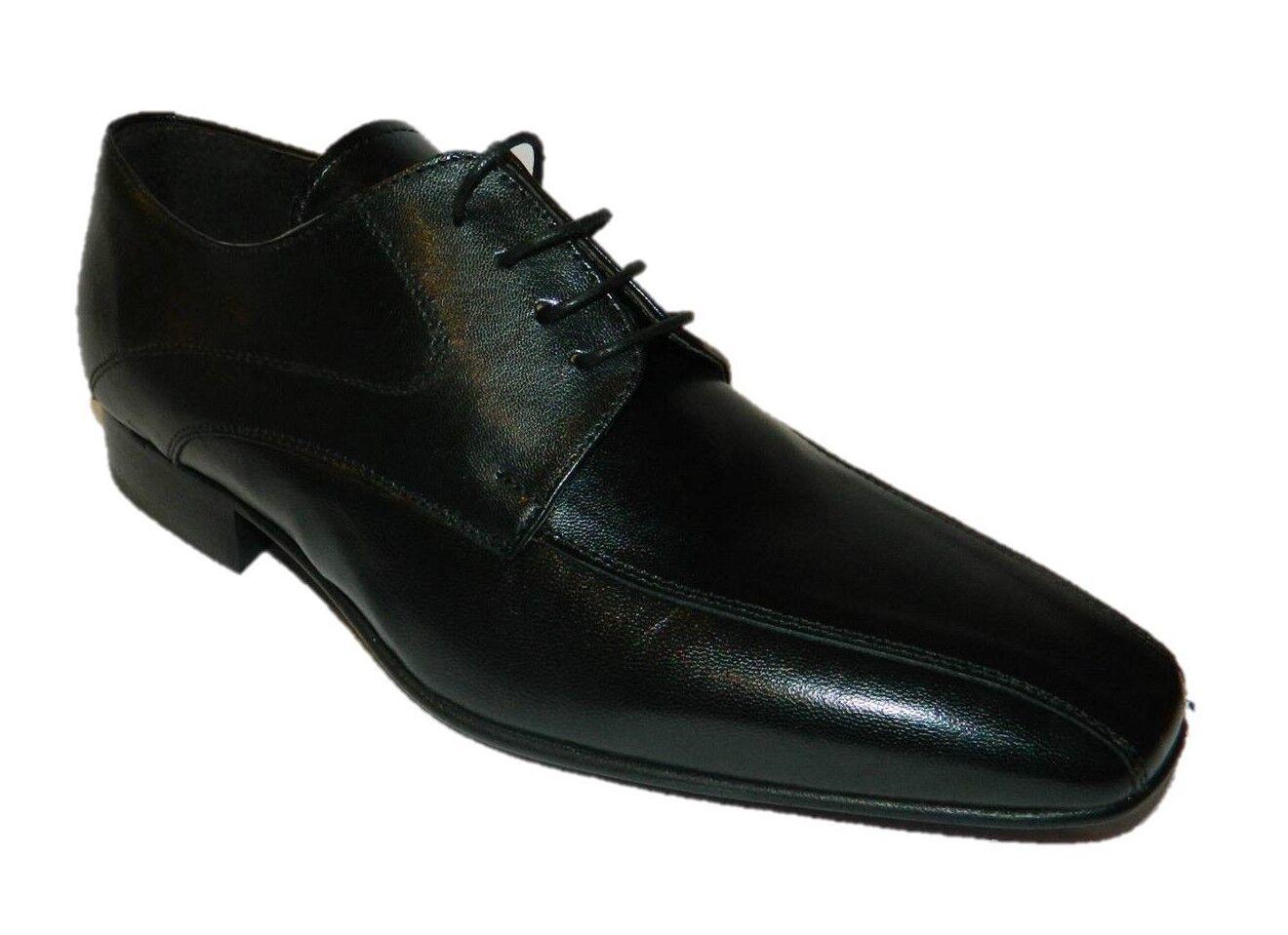 GIGI NERO Scarpe uomo elegante cerimonia classiche nero cuoio pelle Italy