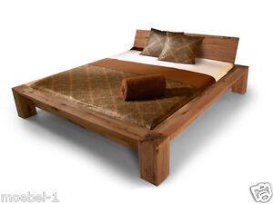 massivholzbett doppelbett betten 180x200 cm holz bett morton eiche massiv ge lt ebay. Black Bedroom Furniture Sets. Home Design Ideas
