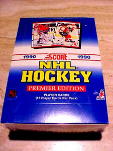 1990-91-Score-Hockey-American-Wax-Box-RCs-OF-BRODUER-JAGR-LlNDR0S