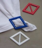 Tee Shirt Clip Pull Holder Tie Diamond Shape One Shaper Red White Or Blue