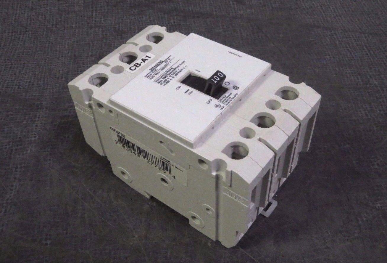 SIEMENS CIRCUIT BREAKER CQD3100 3 POLE 100A 100 AMP A 480Y//277 VAC