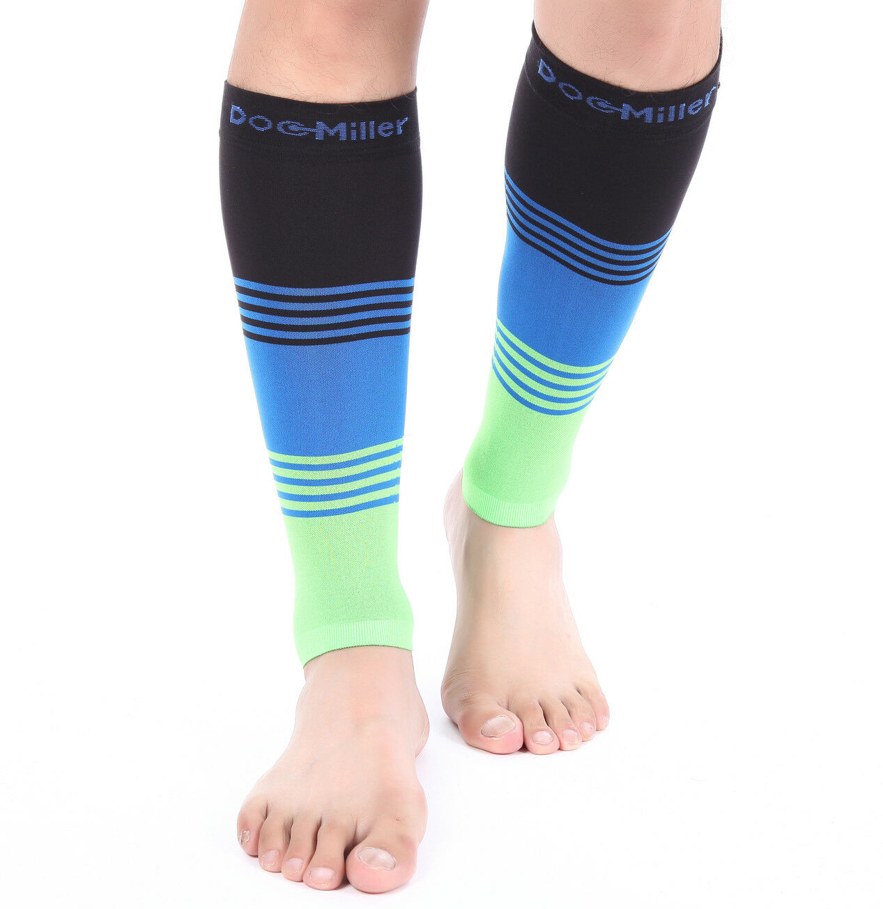 091dc38277 Doc Miller Calf Compression Sleeve 1 Pair 20-30 mmHg Varicose Veins  BLACK/BLUE/GREEN