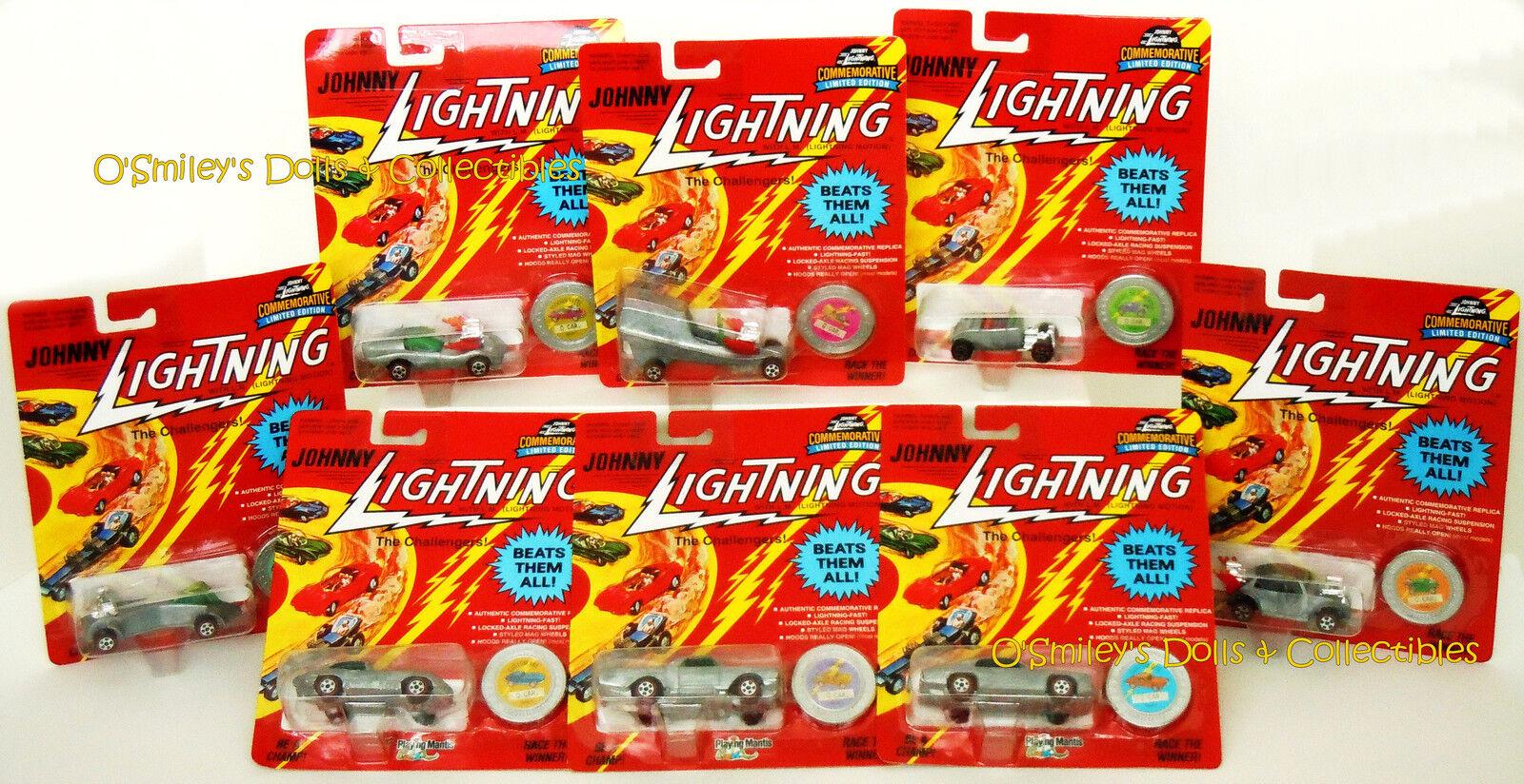 Difficile de trouver ensemble complet JOHNNY LIGHTNING Limited comm ed Q-Voiture Série K non peinte _ Comme neuf on Card