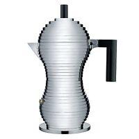 Alessi pulcina 6 Cup Stovetop Espresso Coffee Maker - Black