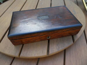 ancienne boite coffre bijoux medailles cigare cigarettes bois wood box ebay. Black Bedroom Furniture Sets. Home Design Ideas