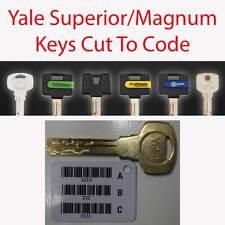 3 x YALE SUPERIOR / MAGNUM ricambio tasti tagliati al codice-firmato per la consegna Inc