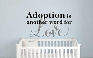 Image Is Loading Adoption Child Vinyl Lettering Decals Wall Art Words