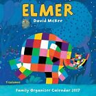 Elmer The Elephant Family Organiser Wall Calendar 2017 9781783618491