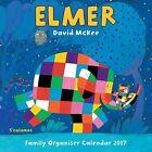 Elmer The Elephant Family Organiser Wall Calendar 2017 9781783618491