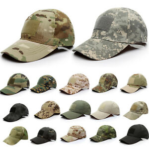 Baseball-Cap-Hat-Mens-Tactical-Army-Camo-Military-Strapback-Visor-Camouflage