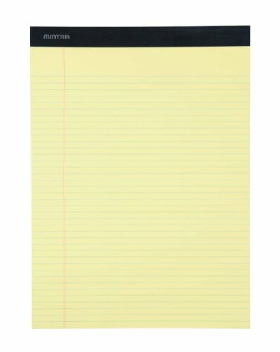 8.5in x 11in Narrow Ruled 6 pack Basic Pastel Legal Pads
