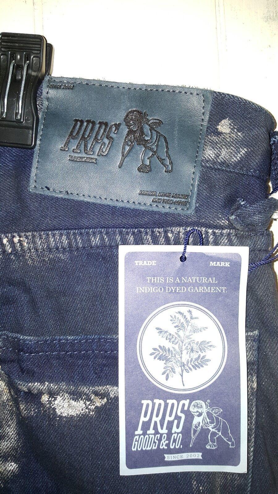 d1bdb1ef PRPS Demon Slim Fit Moto Indigo Jeans w gold Print Size 33×35 NEW Men  naxjxr5499-Jeans