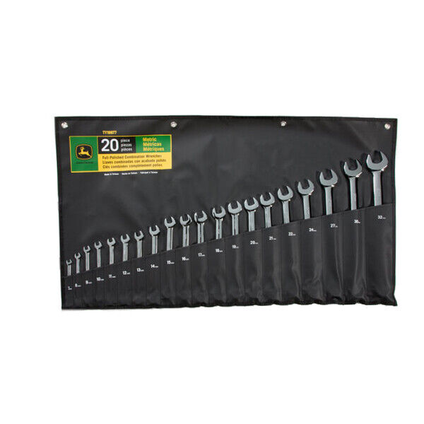 John Deere Metric Full-Polished Combination Wrench Set (20-Piece) TY19977. Buy it now for 178.18