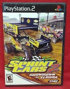Sprint-Cars-2-Showdown-Eldora-PS2-Playstation-2-Game-1-Owner-NEAR-Mint-Disc