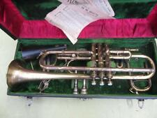 Large Bore (,468) King MASTER Trumpet HN White Site Horn ANTIQUE EARLY 1900