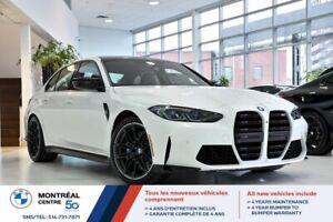 2021 BMW M3 Tout cuir, Garniture fibre de carbone, Jantes M forgées 19-20 po, +