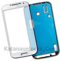 Bildschirm Glas für Samsung Galaxy S4 i9500 i9505 SIV Weiß Mit Klebe