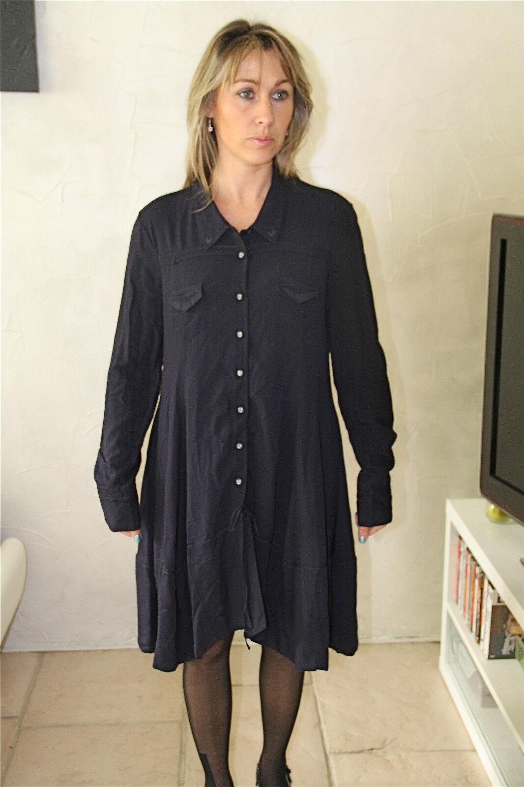 Kleid Blause Wolle Viskose M & François Girbaud die NEUE GRÖSSE Etikett Wert