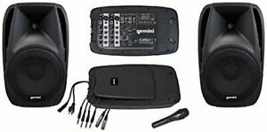 "Gemini ES210MXBLU Dual 10"" Speakers With Powered Mi"