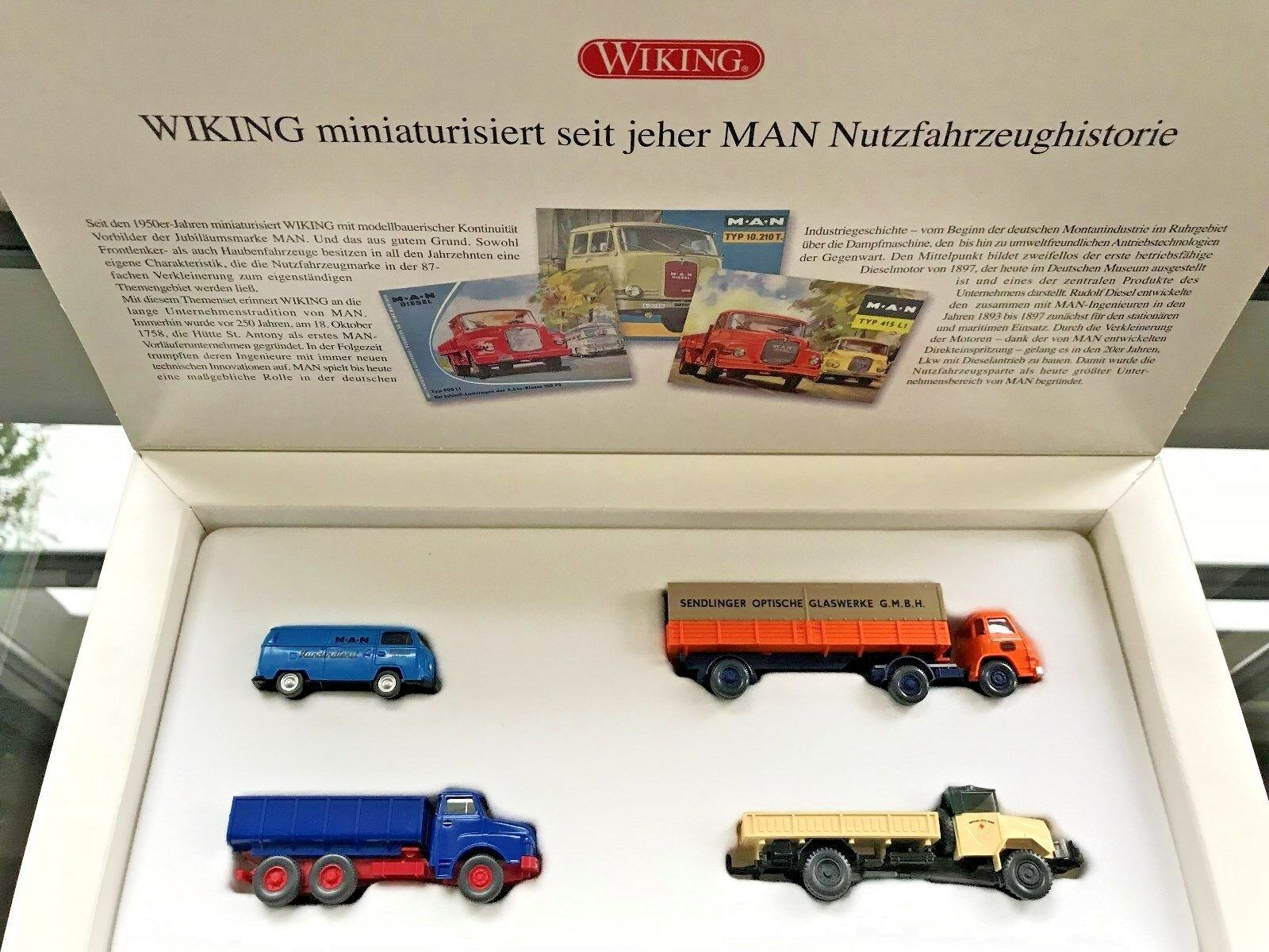 Wiking 09906258 jubiläumsset 250 anni si Camion VW Transporter Nuovo
