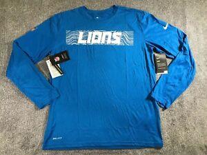 Nike DRY Detroit lions long sleeve shirt NWT