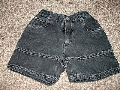 Gymboree Toddler Boys Black Denim Shorts Size Small 3 yrs 3T Summer Spring