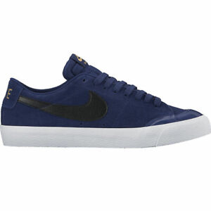 NIKE-SB-Blazer-Zoom-Low-XT-Binary-Blue-Black-White-864348-409-Skate-Board-Suede