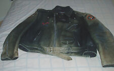"""GENUINE LEATHER BLACK MOTORCLCLE JACKET 3XL (XXXL)-W/QUILTED LINER-""""TOASTY"""""""